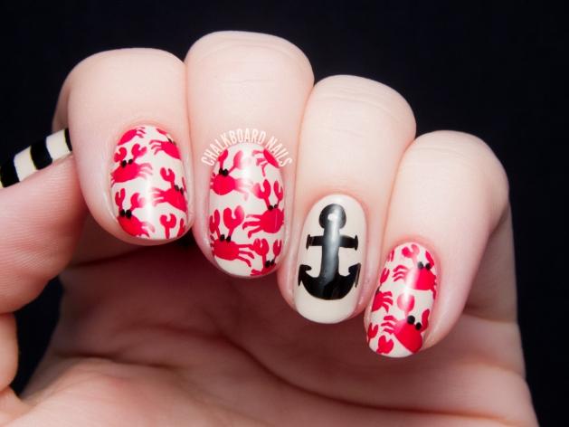 nautical-crab-nail-art-31dc2014-red-3