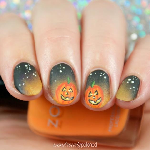 jack-o-lantern-nail-art 5