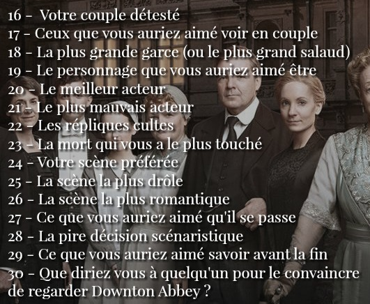 30 Day Challenge Downton Abbey_2